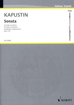 Nikolai Kapustin - Sonate - Flûte et Piano - Partition - di-arezzo.fr