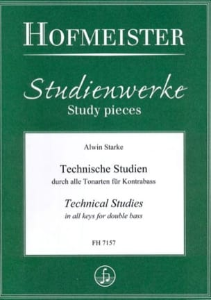 Alwin Starke - Technical Studies - Double Bass - Sheet Music - di-arezzo.co.uk