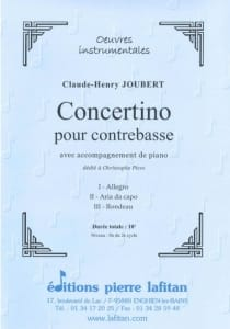 Claude-Henry Joubert - Concertino - Partition - di-arezzo.com