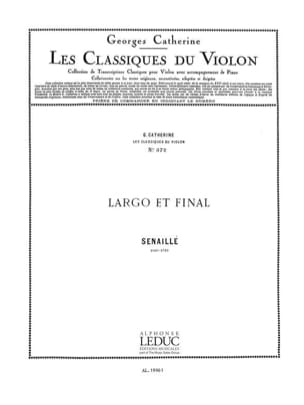 Senaillé Jean-Baptiste / Catherine Georges - Largo and Final - Sheet Music - di-arezzo.com