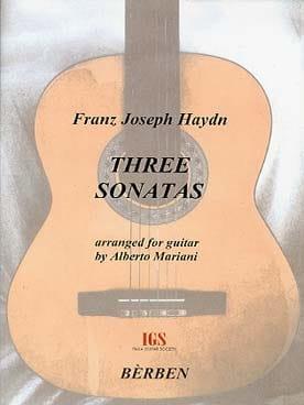 Joseph Haydn - 3 Sonates - Guitare - Partition - di-arezzo.fr