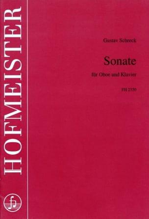Gustav Schreck - Sonate - Hautbois et Piano - Partition - di-arezzo.fr