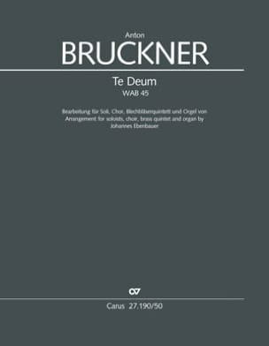 Anton Bruckner - Te Deum, WAB 45 - Partition - di-arezzo.fr