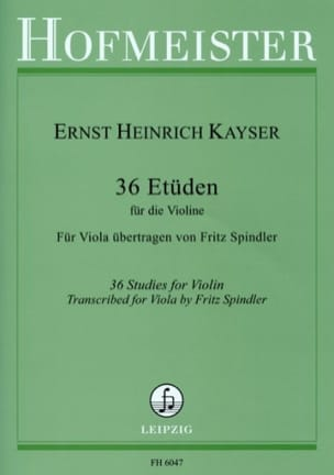 Heinrich Ernst Kayser - 36 Studies - Alto - Sheet Music - di-arezzo.co.uk