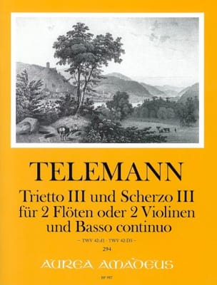 Trietto III / Scherzo III Georg Philipp Telemann laflutedepan
