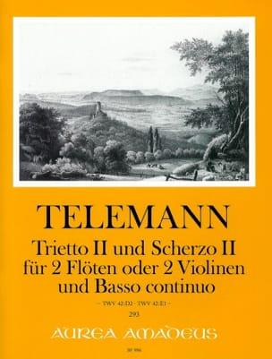 Trietto II / Scherzo II Georg Philipp Telemann Partition laflutedepan