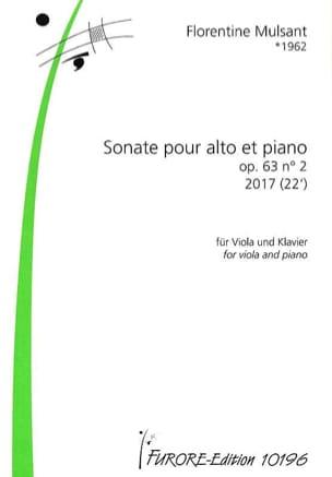Florentine Mulsant - Sonate opus 63 n ° 2 - Sheet Music - di-arezzo.com