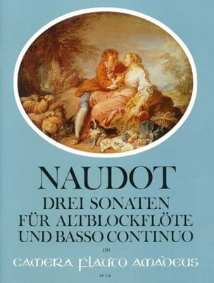 3 Sonates, opus 14 Jacques Christophe Naudot Partition laflutedepan