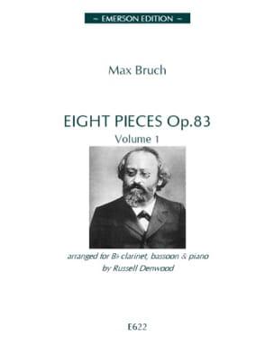 8 Pièces op. 83 - Volume 1 BRUCH Partition Trios - laflutedepan