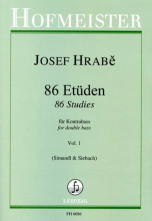 Josef Hrabe - 86 Studies for Double Bass - Volume 1 - Sheet Music - di-arezzo.co.uk