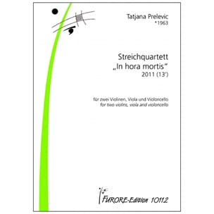 Quatuor à Cordes - Tatjana Prelevic - Partition - laflutedepan.com