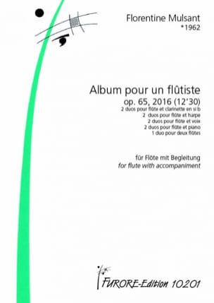 Album pour un Flûtiste, op. 65 - Florentine Mulsant - laflutedepan.com