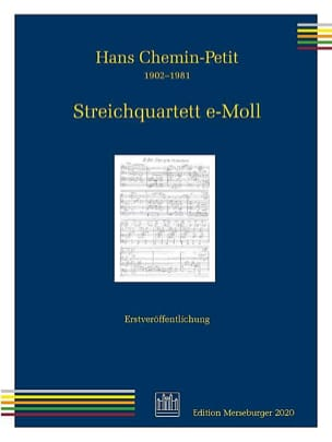 Hans Chemin-Petit - String Quartet - Sheet Music - di-arezzo.co.uk
