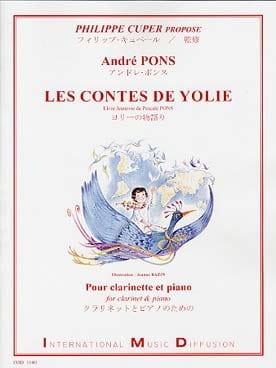 Les Contes de Yolie André Pons Partition Clarinette - laflutedepan