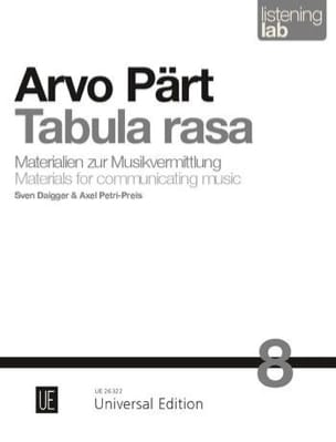 Tabula Rasa - Analyse - Arvo Pärt - Livre - laflutedepan.com