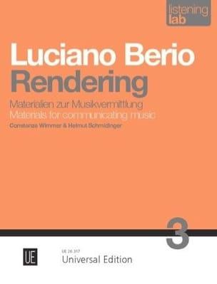 Rendering - Analyse - Luciano Berio - Livre - laflutedepan.com