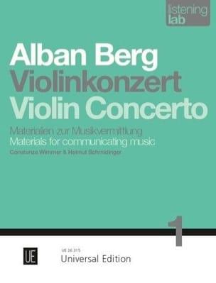Violin Concerto - Analyse - Alban Berg - Livre - laflutedepan.com