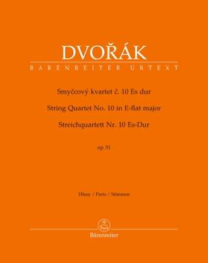 Quatuor à Cordes n° 10, opus 51 DVORAK Partition laflutedepan