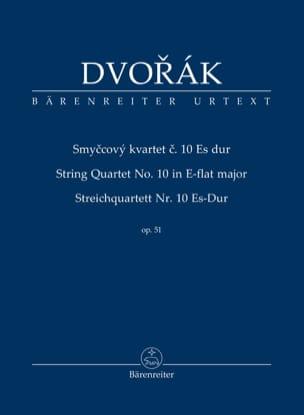 Antonin Dvorak - Quatuor à Cordes n° 10 - Conducteur - Partition - di-arezzo.fr