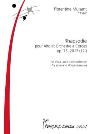 Rhapsodie, opus 75 Florentine Mulsant Partition laflutedepan