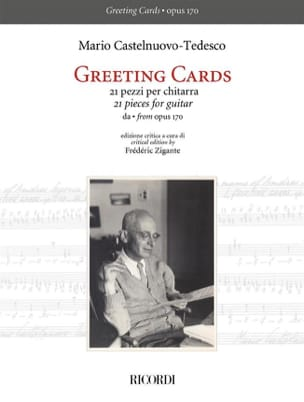 Greeting Cards Mario Castelnuovo-Tedesco Partition laflutedepan