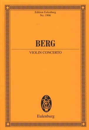 Concerto pour Violon - Alban Berg - Partition - laflutedepan.com
