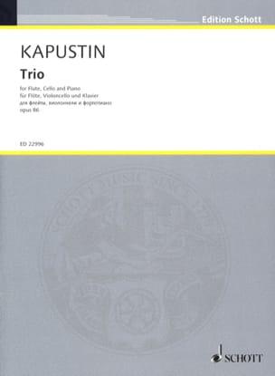 Trio, opus 86 Nikolai Kapustin Partition Trios - laflutedepan