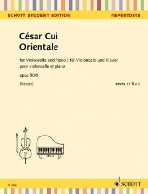 Orientale César Cui Partition Violoncelle - laflutedepan