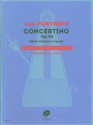 Concertino - Leo Portnoff - Partition - Alto - laflutedepan.com