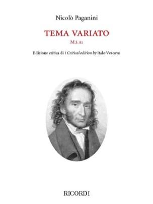 Niccolò Paganini - Tema Variato, MS 82 - Sheet Music - di-arezzo.com