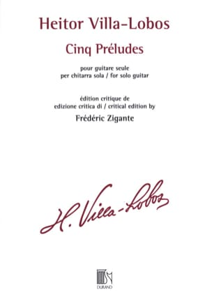 Heitor Villa-Lobos - 5 Préludes - Guitare - Partition - di-arezzo.fr