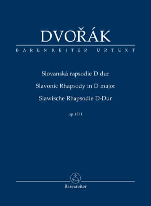 DVORAK - Rapsodie Slave, opus 45 n ° 1 - Sheet Music - di-arezzo.co.uk