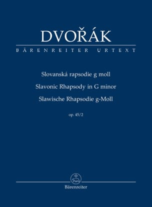 DVORAK - Rapsodie Slave, opus 45 n ° 2 - Sheet Music - di-arezzo.co.uk