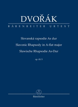 DVORAK - Rapsodie Slave, opus 45 n ° 3 - Sheet Music - di-arezzo.co.uk