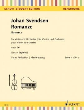 Romance, opus 26 Johan Severin Svendsen Partition laflutedepan