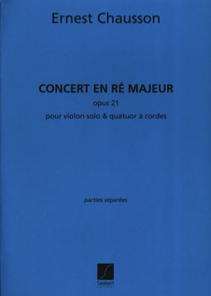 Concert en ré Majeur opus 21 pour piano violon et quatuor à cordes laflutedepan