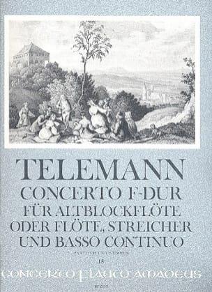 Concerto Fa majeur - TELEMANN - Partition - laflutedepan.com