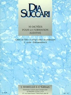 Dia Succari - Elem. 2 - 30 Dictations For Hearing Training - Sheet Music - di-arezzo.co.uk
