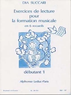 Dia Succari - Reading Exercises - Deb. 1 - Sheet Music - di-arezzo.com
