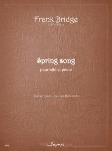 Spring Song Frank Bridge Partition Alto - laflutedepan