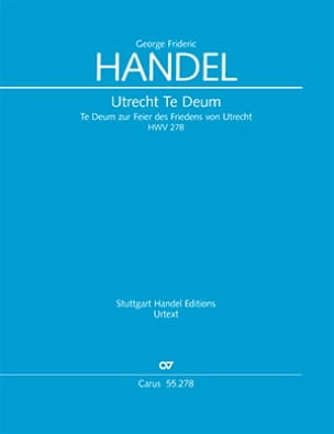 Utrecht Te Deum - HAENDEL - Partition - laflutedepan.com