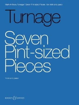 Mark-Anthony Turnage - Seven Pint-sized Pieces - Partition - di-arezzo.fr