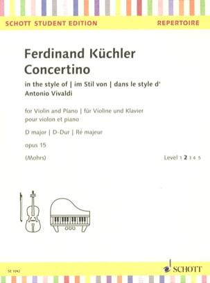 Ferdinand Küchler - Concertino, op. 15 - Sheet Music - di-arezzo.co.uk
