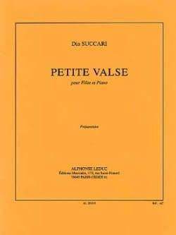 Petite valse Dia Succari Partition Flûte traversière - laflutedepan