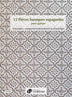 12 Pièces Baroques Espagnoles Partition Guitare - laflutedepan