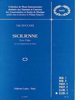 Sicilienne Dia Succari Partition Flûte traversière - laflutedepan