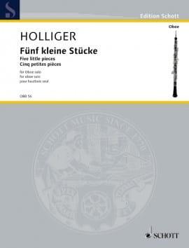 5 Kleine Stücke - Heinz Holliger - Partition - laflutedepan.com