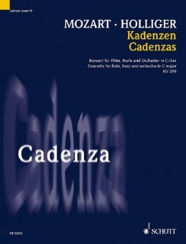 Mozart Cadenzas - Heinz Holliger - Partition - Duos - laflutedepan.com