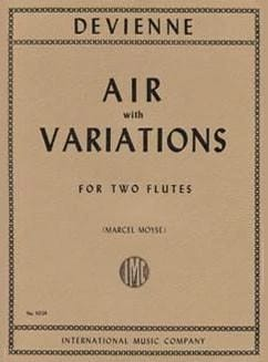 Francois Devienne - Air with variations - Partition - di-arezzo.fr