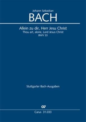 Allein zu dir, Herr Jesu Christ Johann Sebastian Bach laflutedepan
